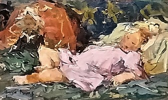 adriaan-boshoff--girl-with-doll-on-bed