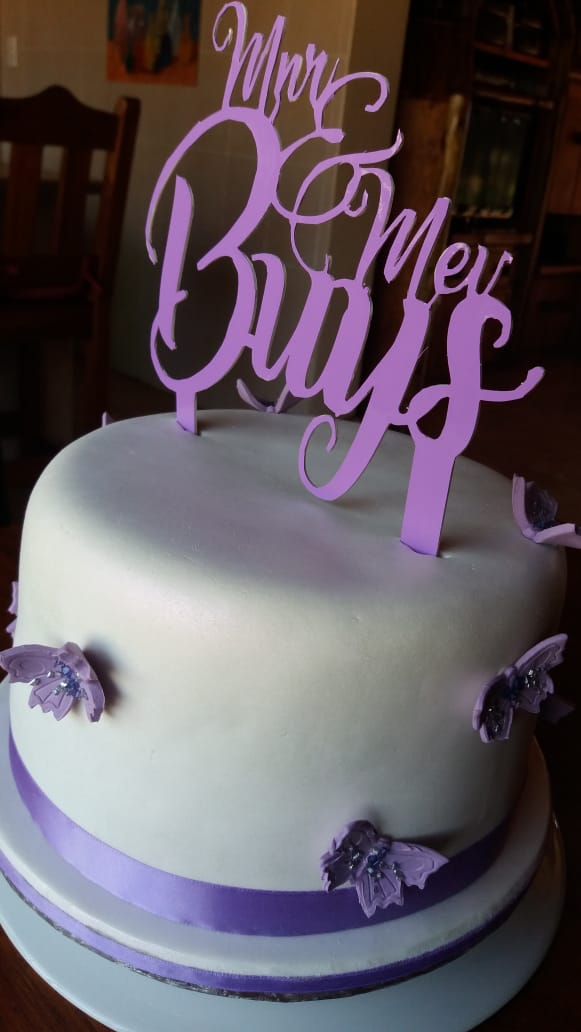 wedding-cake-purple-butterflies-